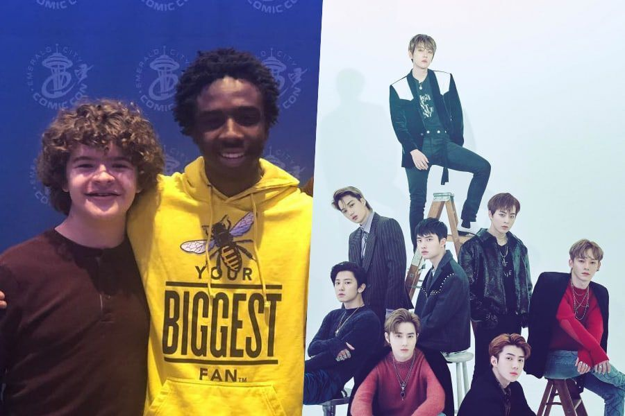 "Watch: ""Stranger Things"" Stars Gaten Matarazzo And Caleb McLaughlin Hint That EXO May Be Giving Them K-Pop Crash Course In Korea"