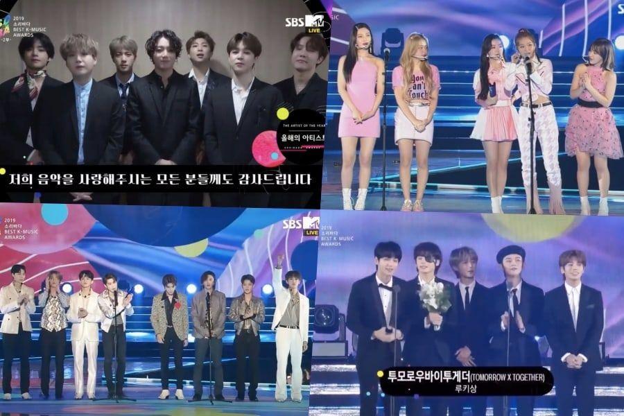Winners Of Day 2 Of 2019 Soribada Best K-Music Awards