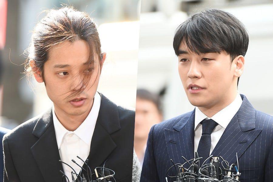 Jung Joon Young y Seungri llegan a la estación de policía para investigaciones