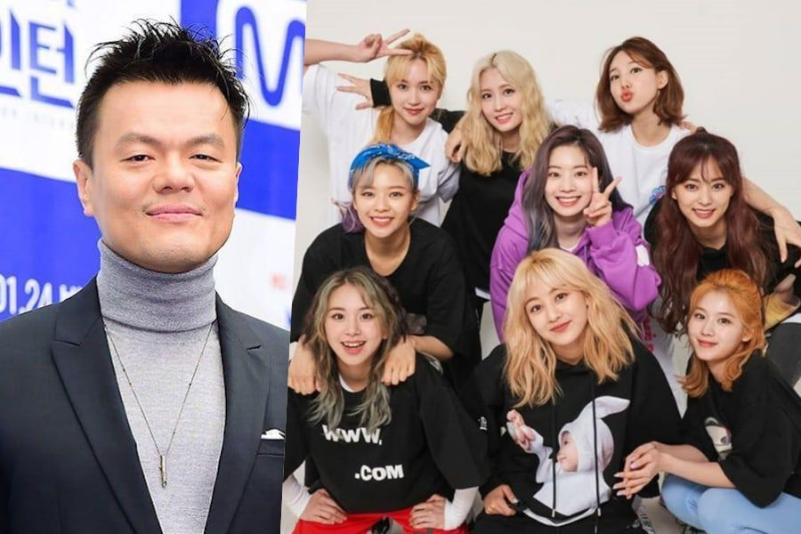 Park Jin Young Posts A Meme Sent By Jeongyeon Featuring Himself And Twice Current And Former Jyp Artists React Hilariously Soompi
