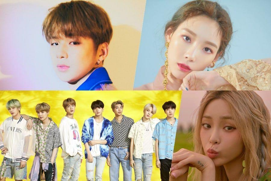 Kang Daniel, Taeyeon, BTS, And Heize Top Gaon Weekly Charts