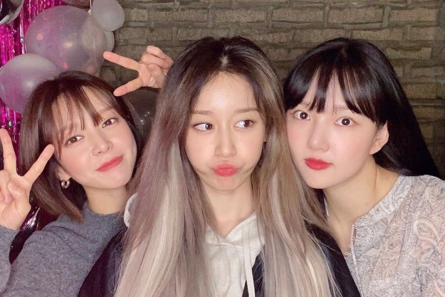 Former AOA Member Choa Shows Off Friendship With GFRIEND's Yerin And T-ara's Jiyeon
