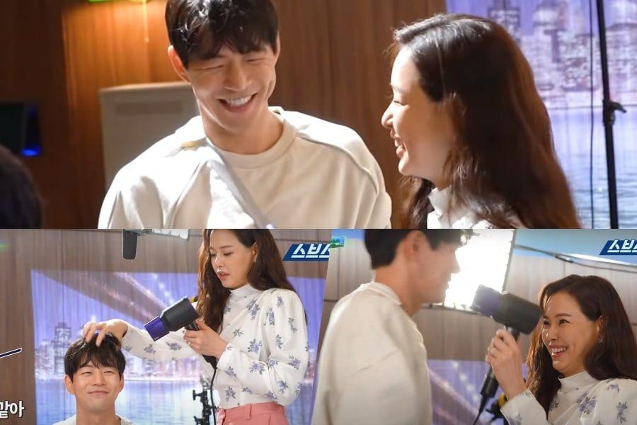 """Tonton: Lee Sang Yoon dan Honey Lee Tidak Bisa Berhenti Menggoda Satu Sama Lain Saat Syuting Momen Romantis di """"One The Woman"""""""