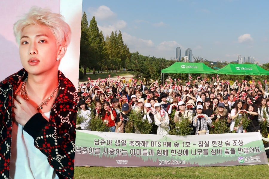 BTS Fans Build Forest In RM's Name As Birthday Gift | Soompi
