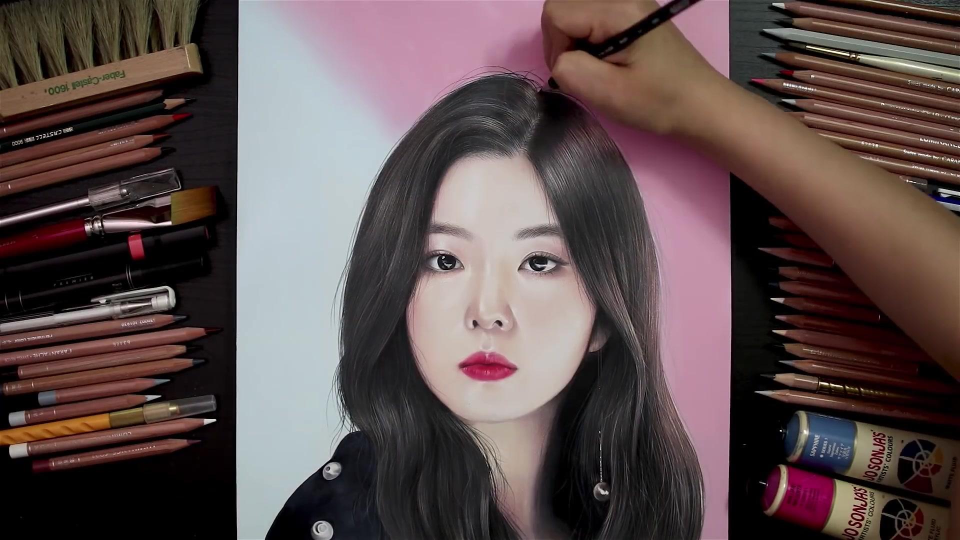 Drawing Hands Episode 78: Speed Drawing Red Velvet's Irene