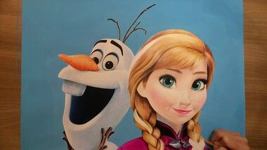 Drawing Hands Episode 81: Speed Drawing Olaf & Anna From 'Frozen'