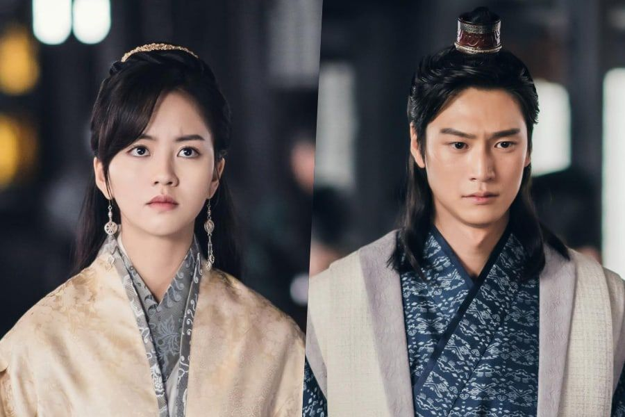 """Kim So Hyun And Na In Woo Stand Determinedly In Front Of The King In """"River Where The Moon Rises"""""""