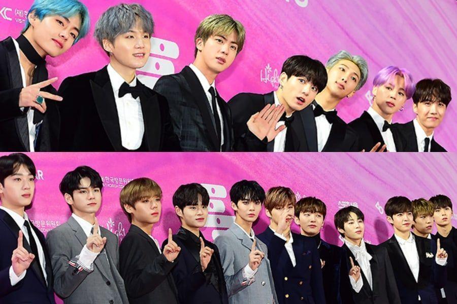 """Estrellas brillan en la alfombra roja de los """"28th Seoul Music Awards"""""""