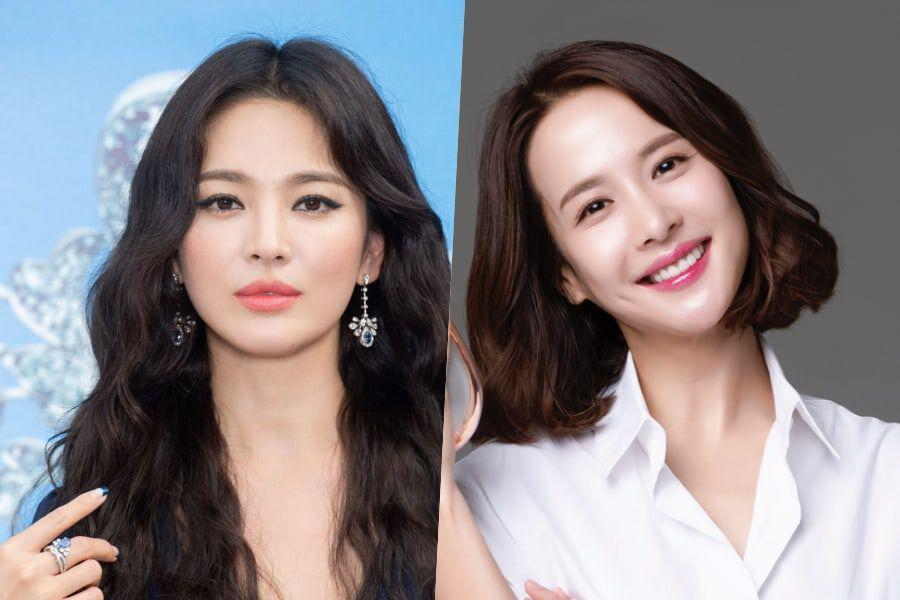 """Song Hye Kyo Responds Affectionately To """"Parasite"""" Star Jo Yeo Jeong Posting Old Photo From High School Days"""