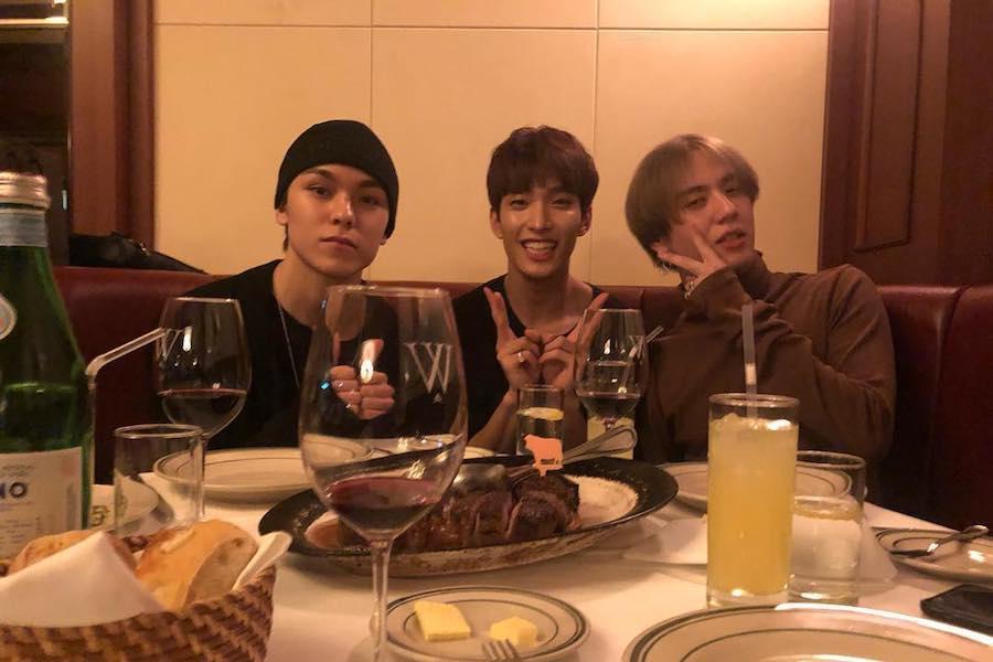 SEVENTEEN's Vernon And DK Celebrate Their Birthdays With GOT7's Yugyeom