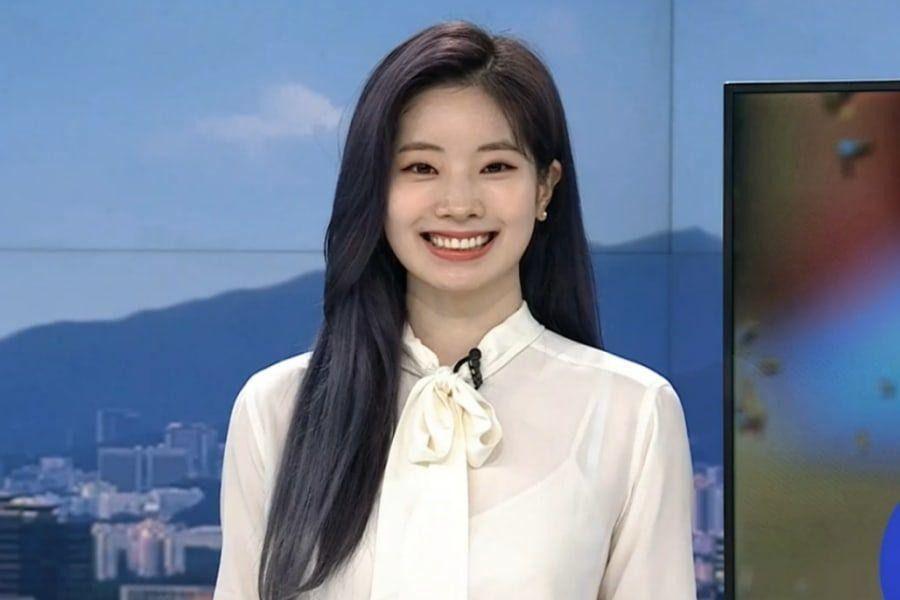 Dahyun de TWICE hace aparición sorpresa como la chica del clima en noticias de la mañana