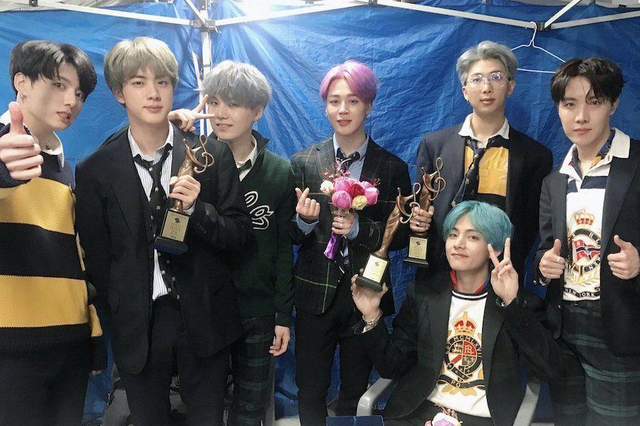 BTS berhasil memboyong 3 piala di Seoul Music Awards 2019 (dok. Twitter @bts_bighit)