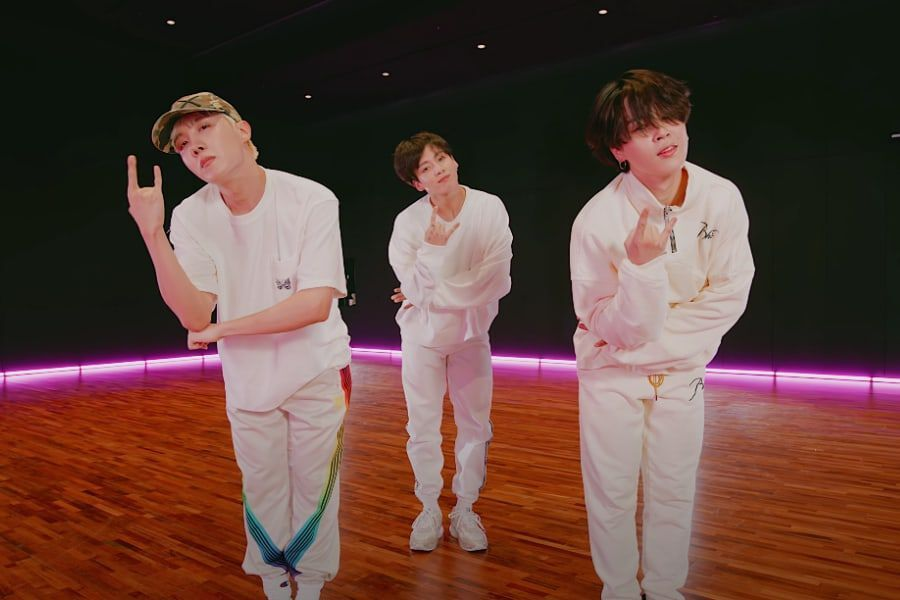 """Watch: BTS's J-Hope, Jungkook, And Jimin Pull Off Smooth Choreo In """"Butter (Feat. Megan Thee Stallion)"""" Performance Video"""