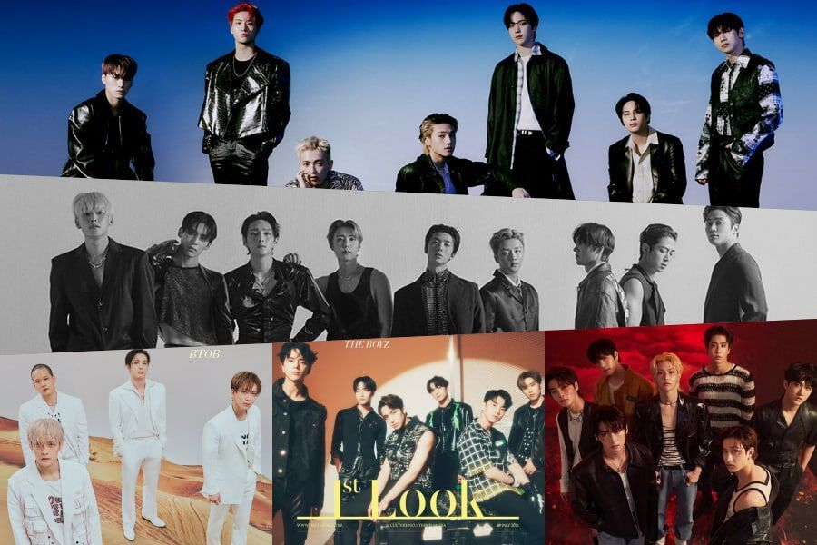 """ATEEZ, Stray Kids, THE BOYZ, BTOB, And SF9 Grace The Cover Of 1st Look For Special """"Kingdom"""" Issue"""