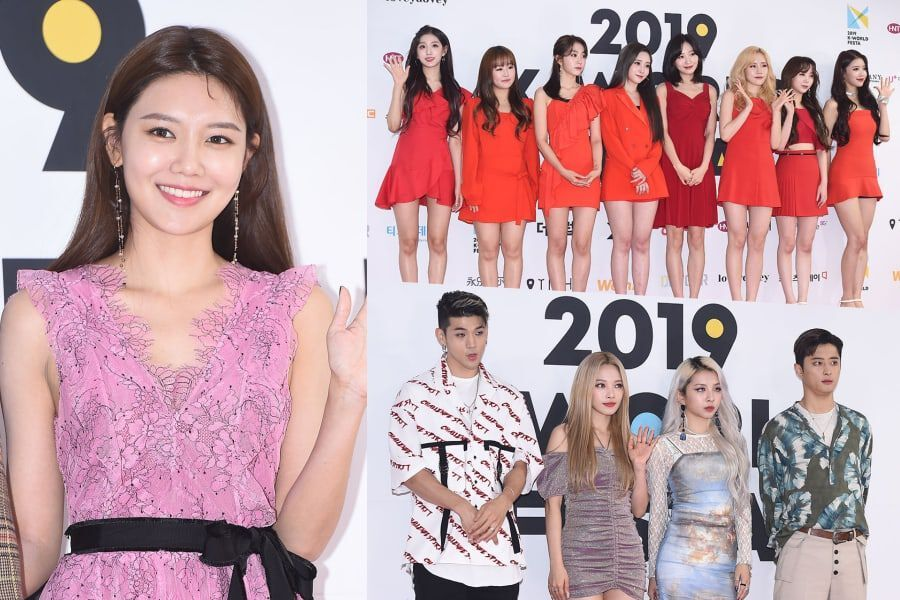 Stars Walk The Red Carpet At Day 2 Of 2019 K-World Festa Opening Ceremony
