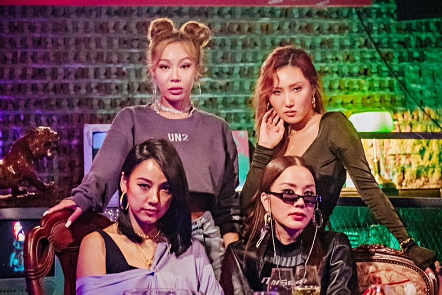 "Lee Hyori, Jessi, MAMAMOO's Hwasa, And Uhm Jung Hwa Release 1st Photos As New Girl Group ""Refund Expedition"""