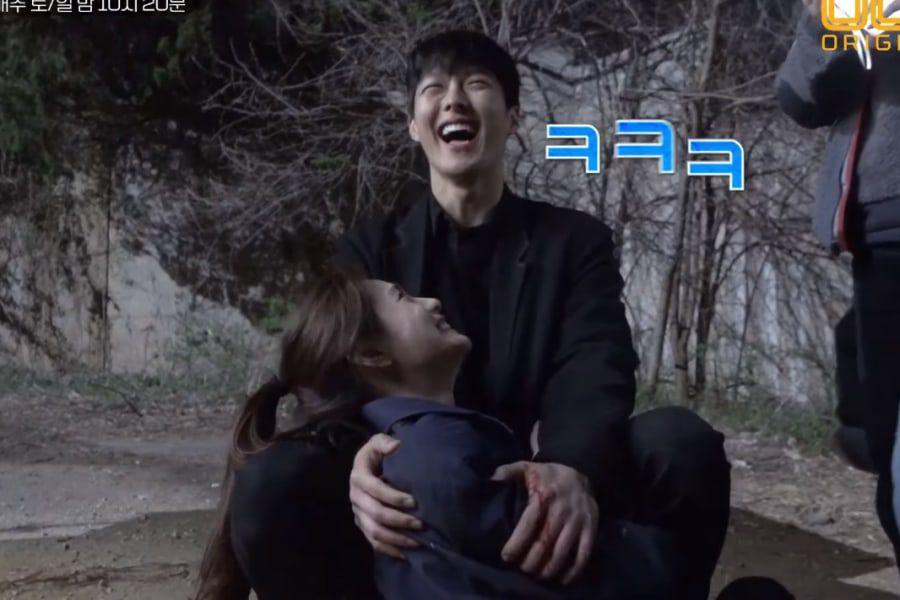 "Watch: Nana And Jang Ki Yong Are Full Of Laughs In ""Kill It"" Behind-The-Scenes Video"