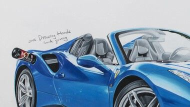 Drawing Hands Episode 86: Speed Drawing the Ferrari 488 GTS Spider