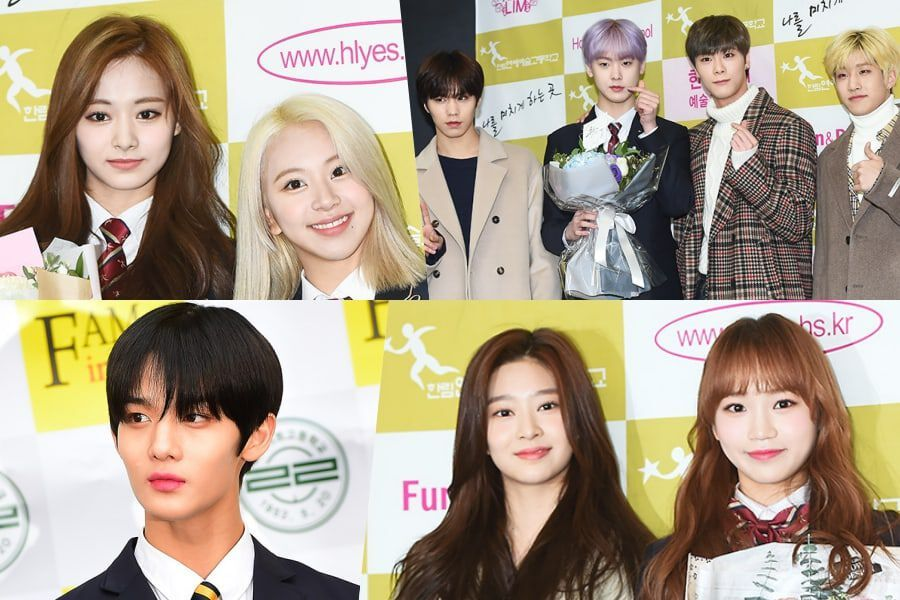 Idols Graduate From Hanlim Arts School And Lila Art High School
