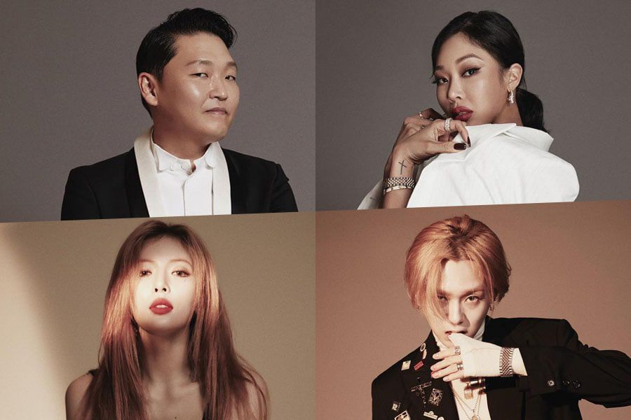 P NATION Launches Official Instagram Account + Shares Profile Photos Of PSY, HyunA, Hyojong, And Jessi