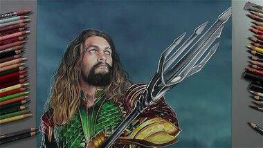 Drawing Hands Episode 95: Speed Drawing Jason Momoa as Aquaman in 'Justice League'