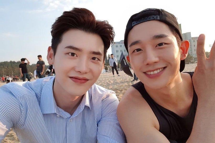 Lee Jong Suk envía un camión de café a su anterior compañero Jung Hae In para su nueva película