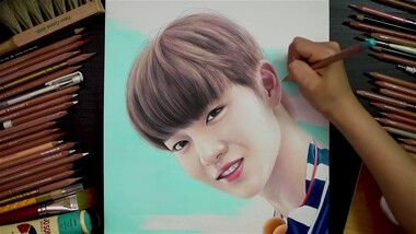 Drawing Hands Episode 80: Speed Drawing Wanna One's Bae Jin Young