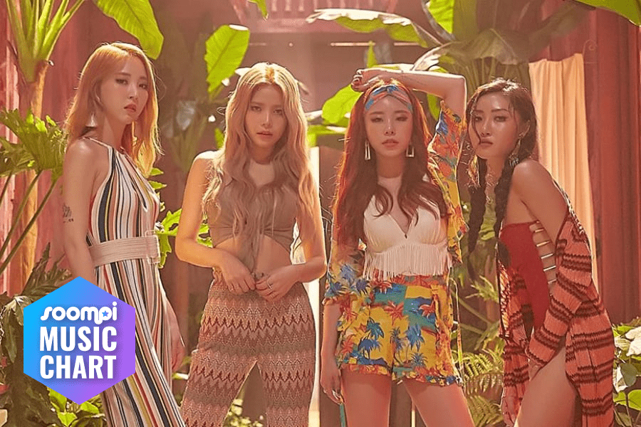 """MAMAMOO Maintains Top Spot With """"Egotistic"""""""