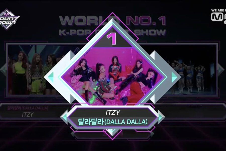 "Watch: ITZY Grabs 1st Ever Win On ""M Countdown"" With ""DALLA DALLA""; Performances By Hwasa, MONSTA X, And More"