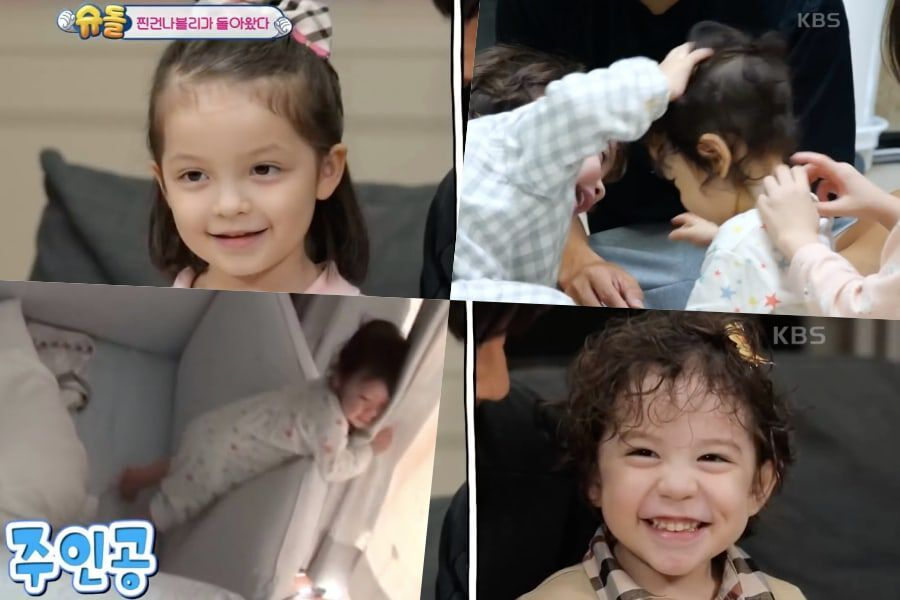"Watch: ""The Return Of Superman"" Reveals 1st Glimpse Of Na Eun And Gun Hoo Playing With Baby Brother Jin Woo"