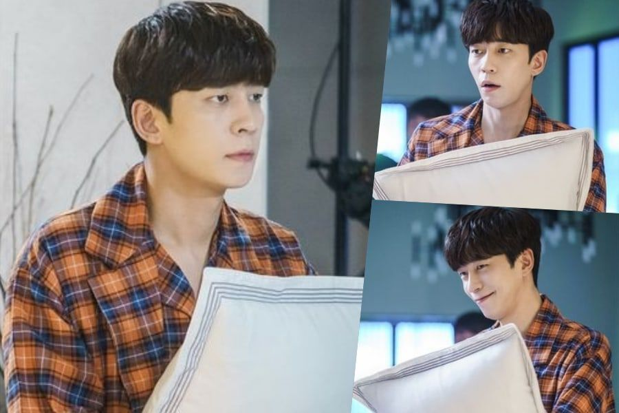 "Shin Sung Rok Cutely Holds Onto His Pillow In Anticipation In ""Perfume"""