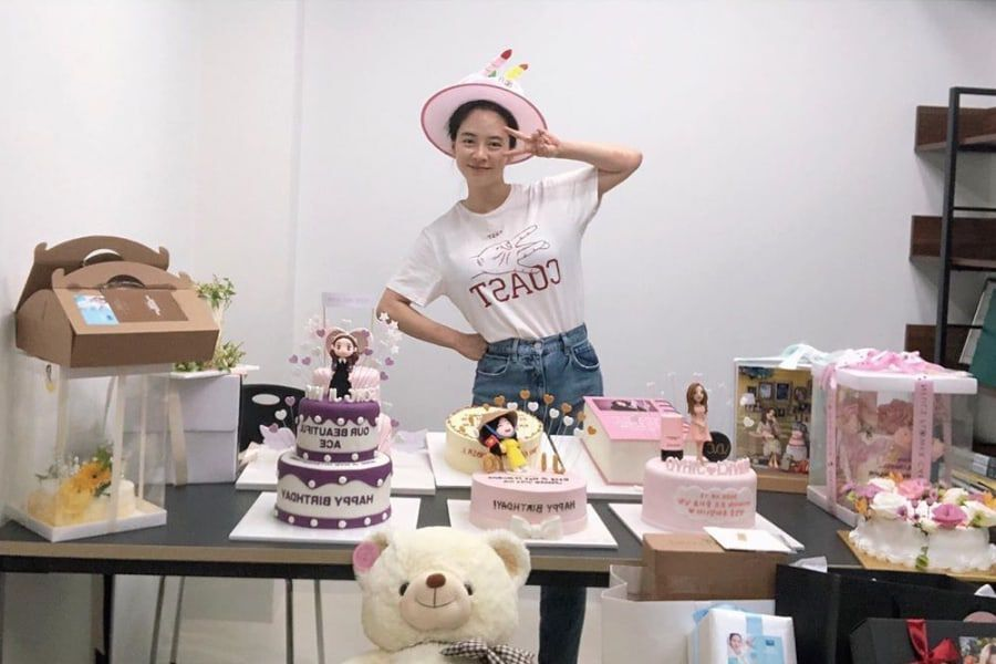 Song Ji Hyo Thanks Fans For Celebrating Her 40th Birthday + HaHa Responds