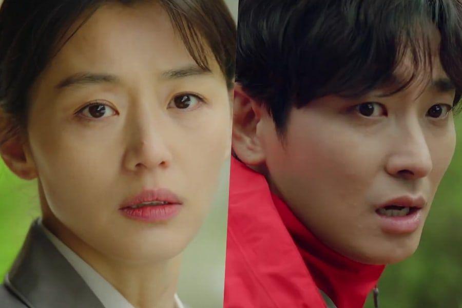 """Tonton: Jun Ji Hyun dan Joo Ji Hoon Mempertaruhkan Hidup Mereka Dalam Teaser """"Jirisan"""" yang Penuh Aksi"""