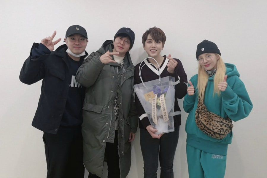 Sandara Park Shares Photos With Variety Show Co-Stars At B1A4 Member Sandeul's Musical