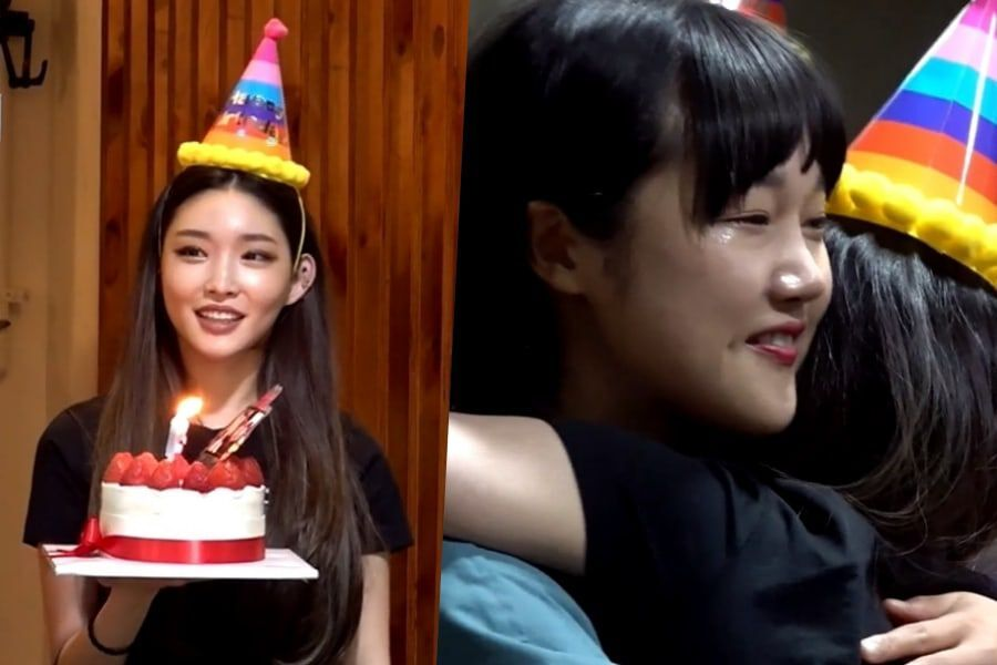 Watch Chungha Throws A Surprise Birthday Party For Her Manager Soompi