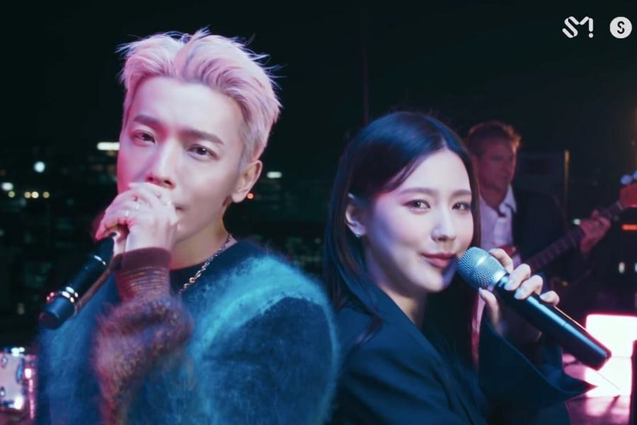 """Watch: Super Junior's Donghae And (G)I-DLE's Miyeon Team Up In Live Video For Their New Song """"Blue Moon"""""""