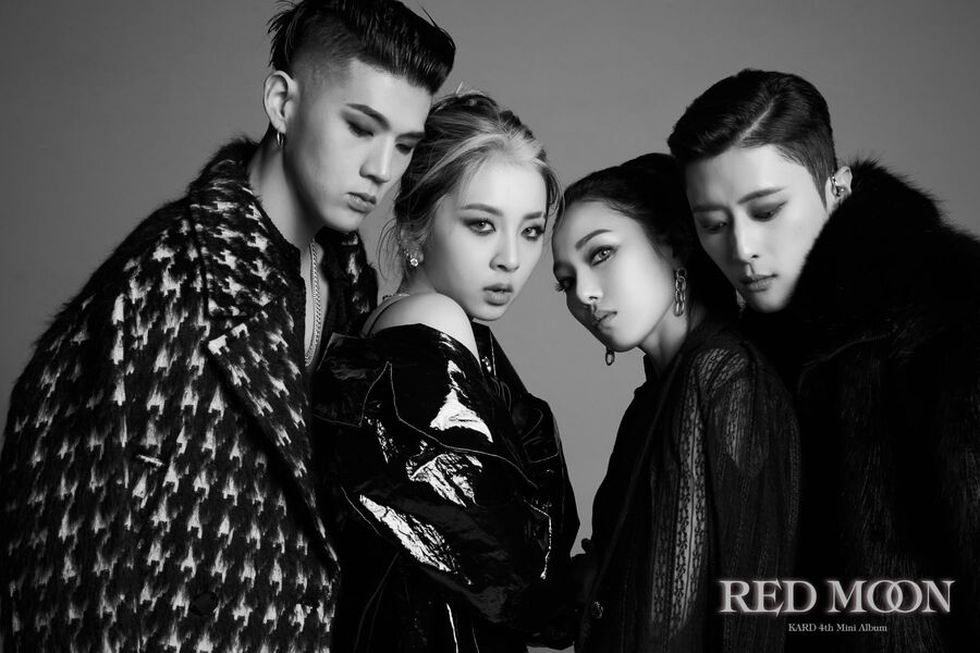 "Update: KARD Gives Glimpse Of Powerful ""Red Moon"" Choreography"