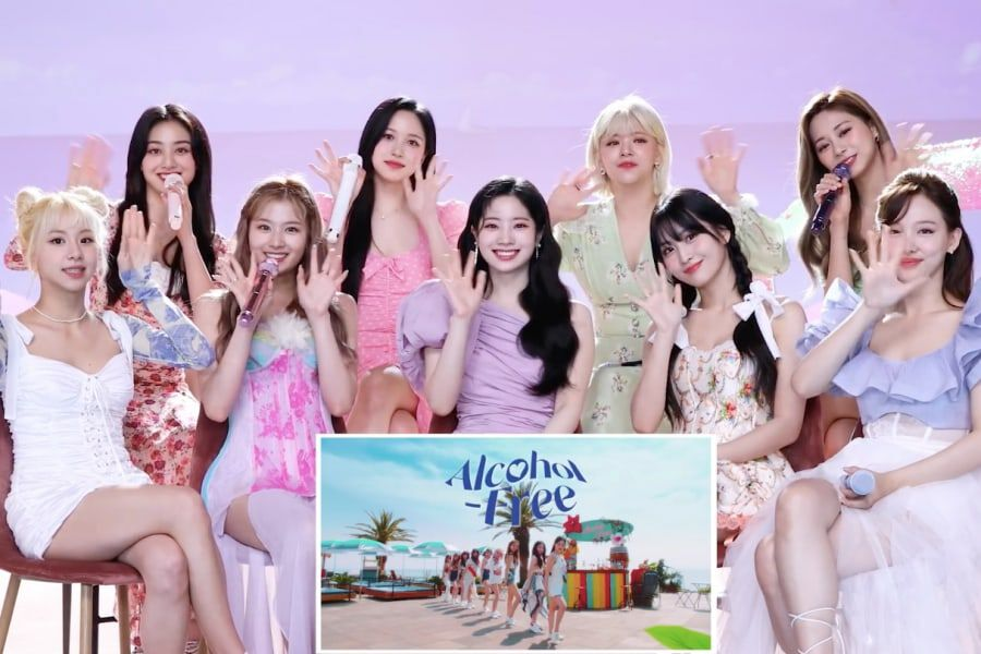 """Watch: TWICE Reveals Secrets Behind Their """"Alcohol-Free"""" MV In Fun Reaction Video"""
