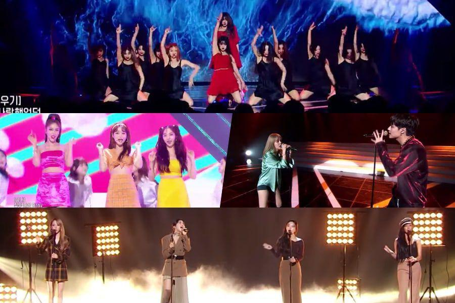 "Watch: (G)I-DLE, AOA, And MAMAMOO Bring Down The House With Fan-Recommended Performances On ""Queendom"""
