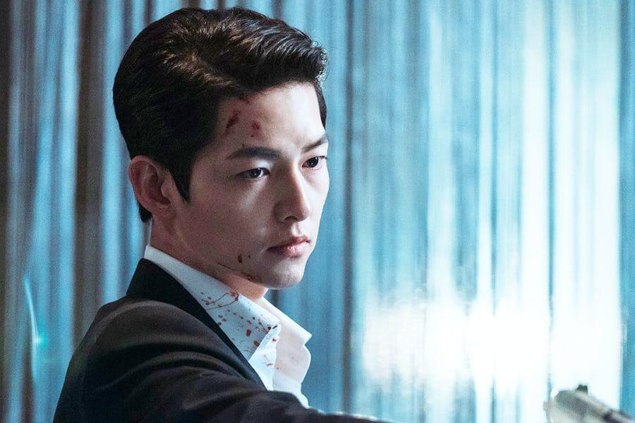 """""""Vincenzo"""" And Song Joong Ki Rise To No. 1 On Most Buzzworthy Drama And Actor Lists"""