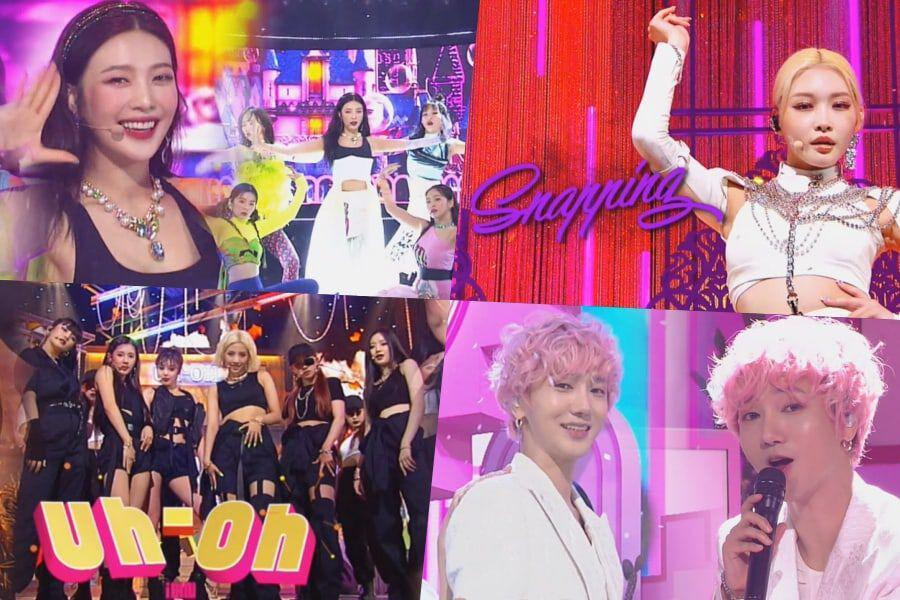 "Watch: Chungha Takes 5th Win For ""Snapping"" On ""Inkigayo""; Performances By Red Velvet, (G)I-DLE, Yesung, And More"