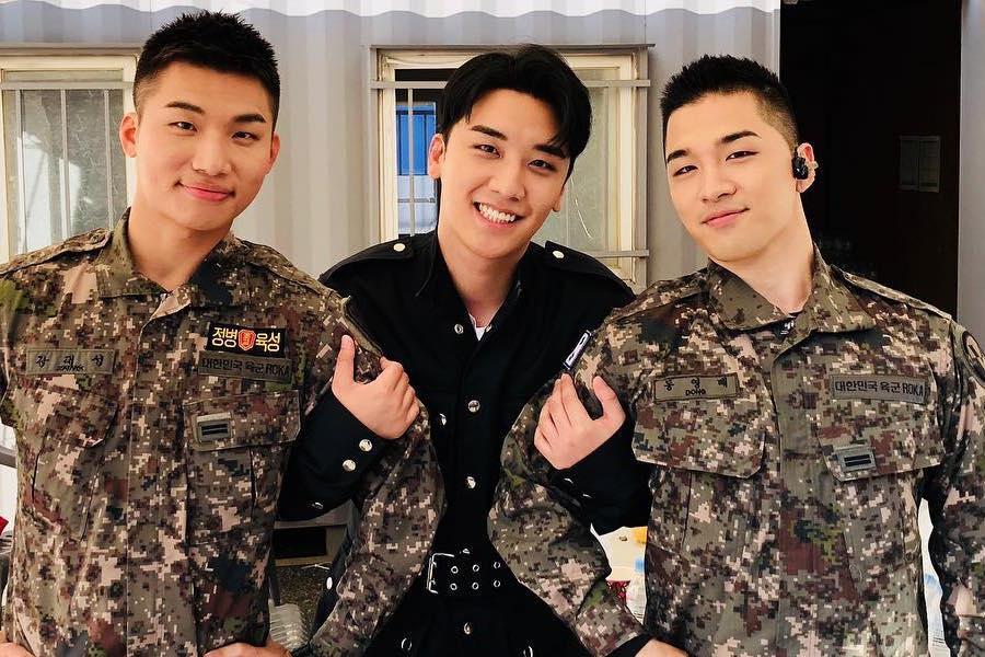BIGBANG's Seungri Reunites With Fellow Members Daesung And Taeyang
