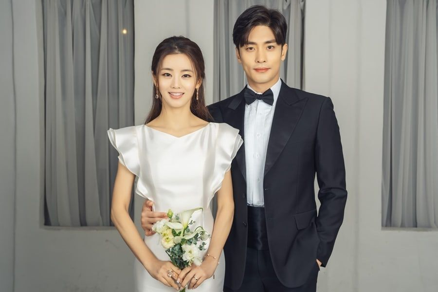 Sung Hoon And Lee Ga Ryung Pose In Wedding Photos For Upcoming Drama