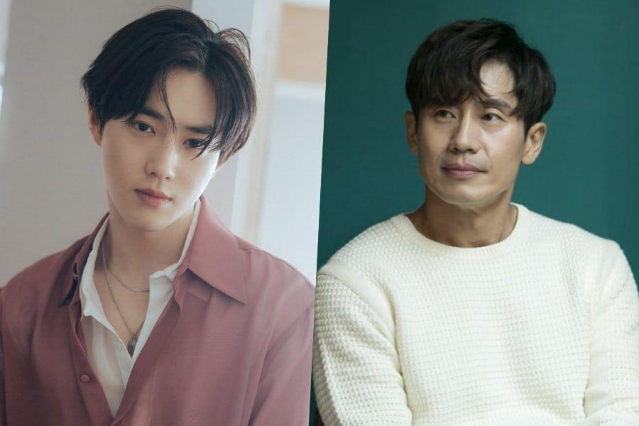 EXO's Suho Cheers On Shin Ha Kyun's New Drama With Thoughtful Gift