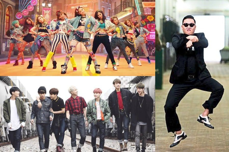 "Girls' Generation, BTS, And Psy Highlighted In Billboard's ""100 Songs That Defined The Decade"" List"