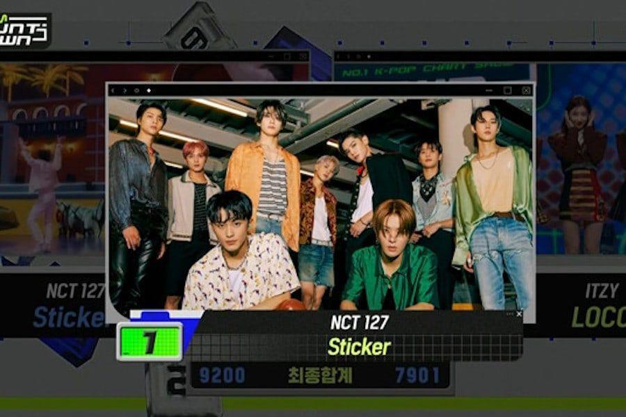 """Tonton: NCT 127 Meraih Kemenangan ke-10 Dan Triple Crown Untuk """"Sticker"""" Di """"M Countdown"""";  Penampilan Youngjae, Jo Yu Ri, ITZY, dan Lainnya"""