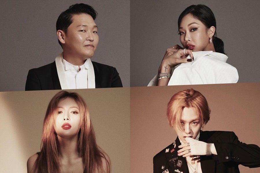 P NATION lanza su cuenta oficial de Instagram y comparte fotos de perfil de PSY, HyunA, Hyojong y Jessi