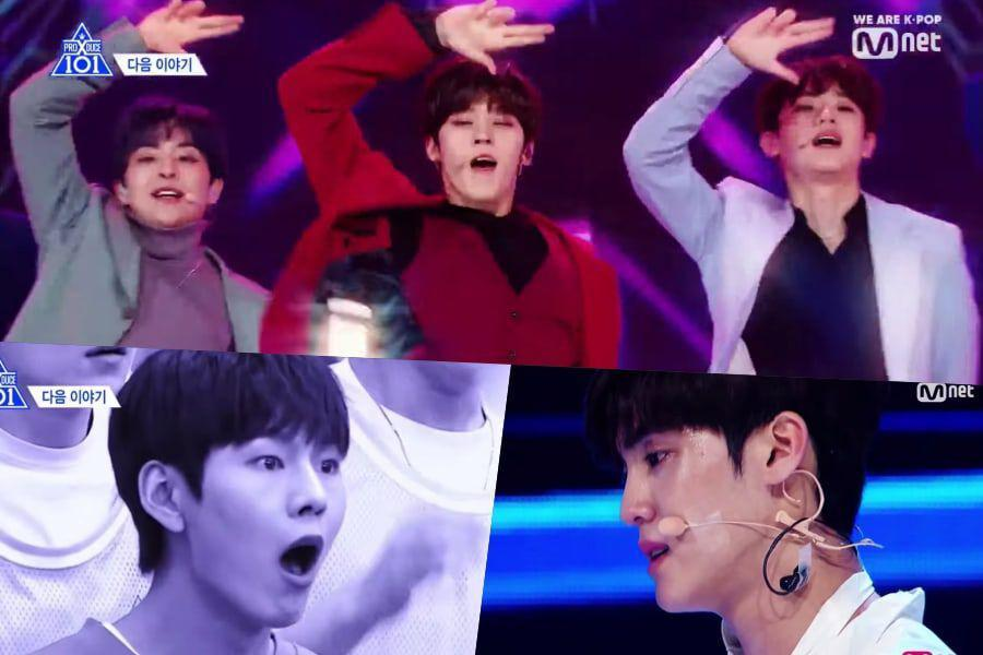 """Watch: """"Produce X 101"""" Trainees Battle In 1st Group Mission To Songs"""