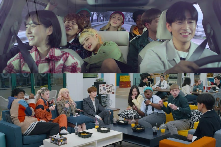 Watch Got7 S Youngjae G I Dle S Minnie Han Hyun Min And More Enjoy Wild College Life In So Not Worth It Main Teaser Soompi