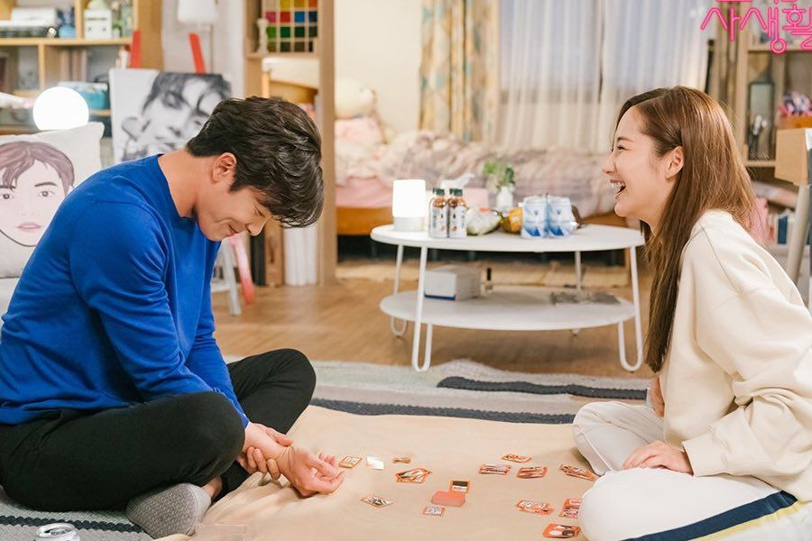 "Kim Jae Wook And Park Min Young Have A Blast Together On Set Of ""Her Private Life"""